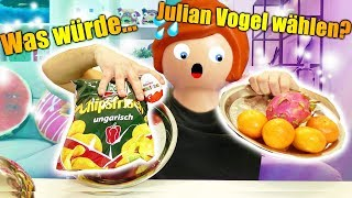 Was würde JULIAN VOGEL wählen? Real Food VS Kids Food? Playmobil Challenge mit Kaan