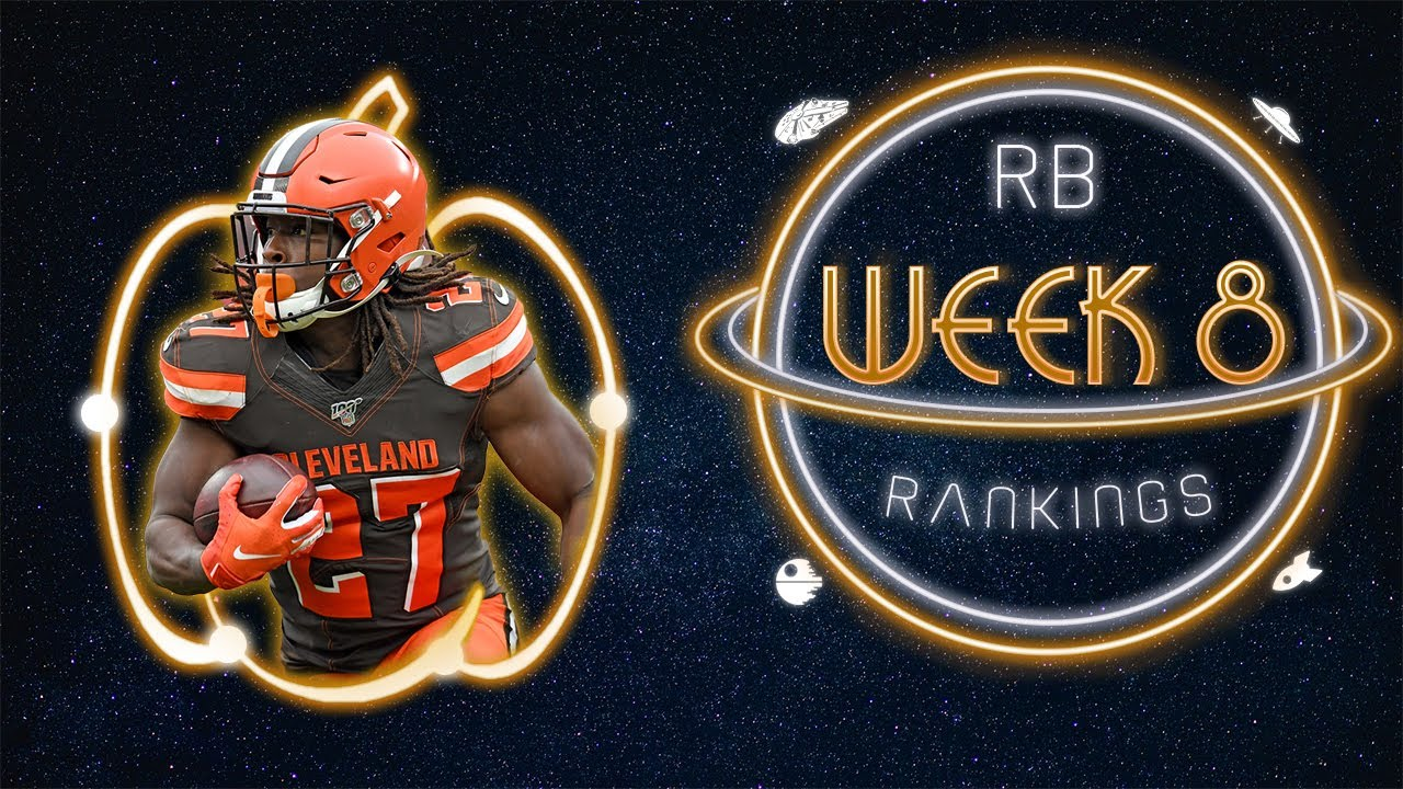 2020 Fantasy Football - Week 8 Running Back Rankings