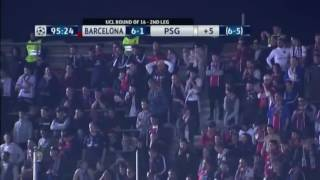 هدف سيرجيو ريبوتو القاتل و جنون الشوالي psg vs fc barcelona 6 1