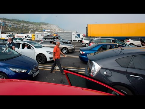 Incredible delays in Dover UK 14hr Traffic Jam
