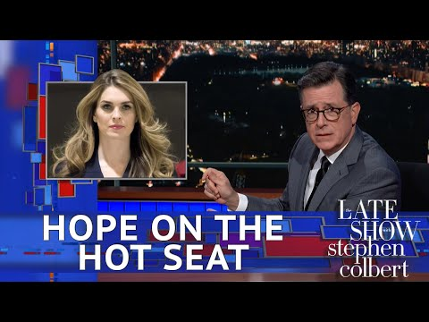 Stephen Colbert finds common ground with Trump over Hope Hicks
