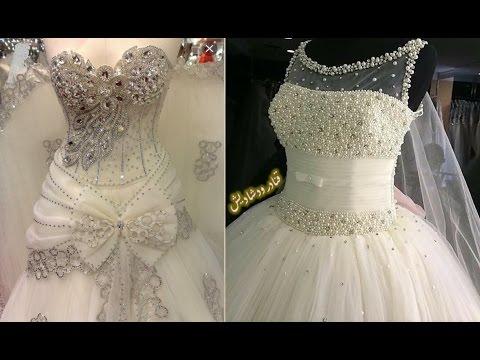 94468ebfc  اجمل بدلات اعراس 👰 موديلات فساتين زفاف لأجمل عروسة 💘 wedding dresses  2017 - YouTube