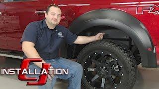F-150 Husky Liners Wheel Well Guard Black Rear Pair 2015-2017 Installation