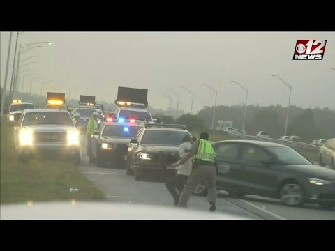Rachel Lutzker - Scary Video as a Florida Trooper is Struck on the Highway