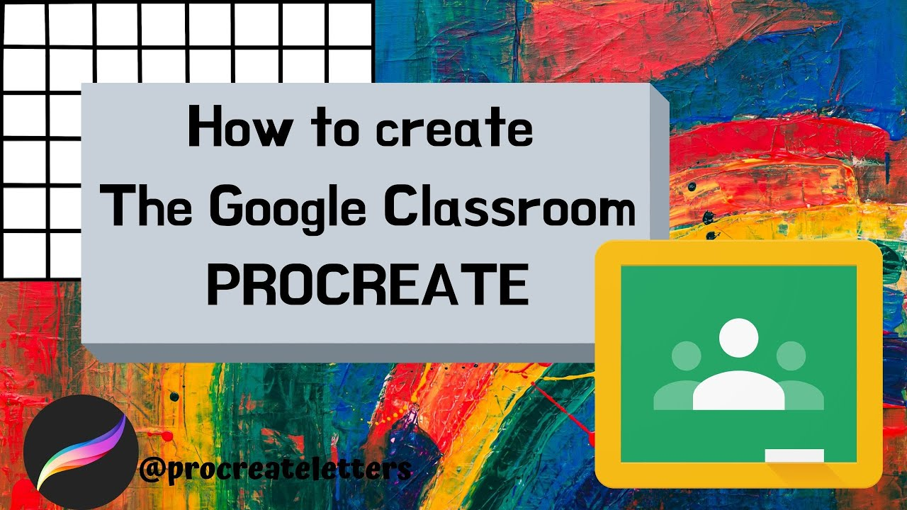 DRAW WITH ME! Google Classroom app logo!