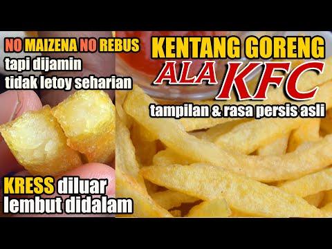 Hai temen temen.. sekarang aku mau berbagi resep kentang goreng / french fries ala KFC.. dijamin ena.