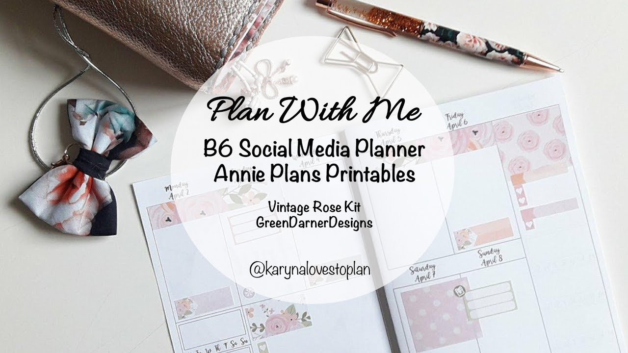 photo relating to Annie Plans Printables known as Software With Me: Apr 2-8, 2018 // B6 (Annie Ideas Printables - Traditional Rose Package - Environmentally friendly Darner Plans)
