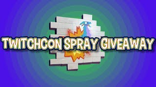 Twitch Con Fortnite Spray GIVEAWAY!