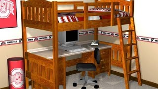 Loft Bed Plans - How To Build A Loft Bed With Plans,blueprints,diagrams,instructions And More