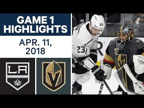 NHL Highlights   Kings vs. Golden Knights, Game 1 - Apr. 11, 2018