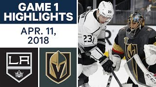 NHL Highlights | Kings vs. Golden Knights, Game 1 - Apr. 11, 2018