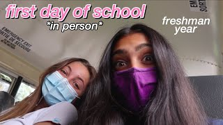 first day of school vlog 2020 *in person*