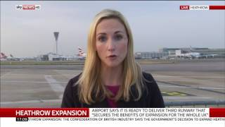 LIVE report from Heathrow as third runway gets approved