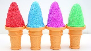 Play Foam Learn Colors Ice Cream Cone And Play Doh Mighty Toys Kids Video Best Learning
