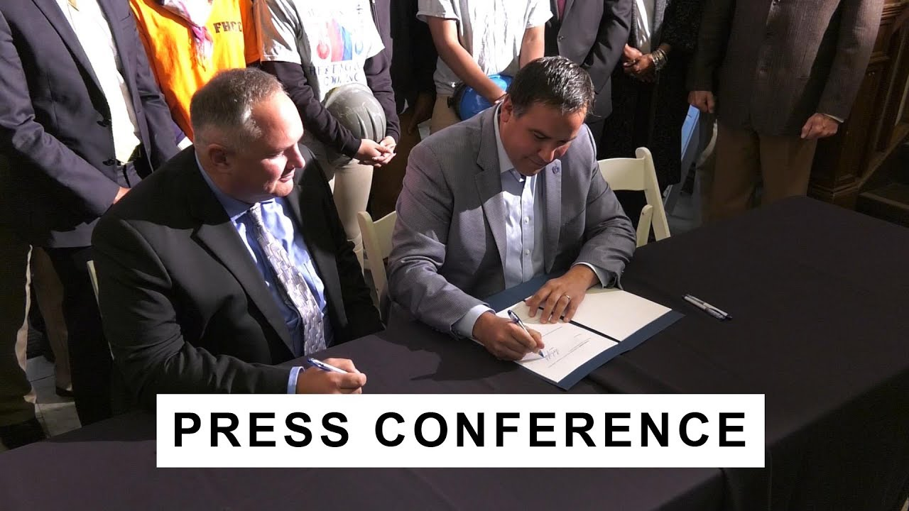 Press Conference Community Benefits Agreement Signing Youtube