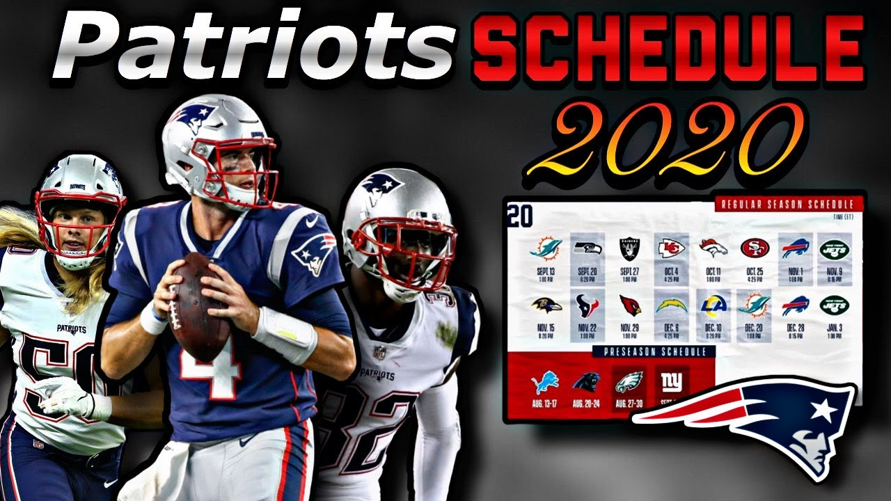 Complete 2020 regular season schedules for all 32 NFL teams