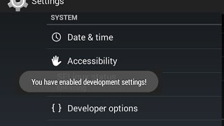 Hide and unhide Developer options on Android