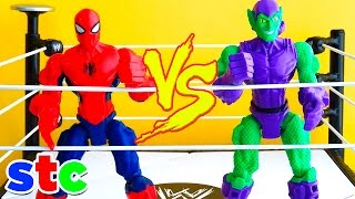 Super Hero Mashers Spiderman vs Duende Verde
