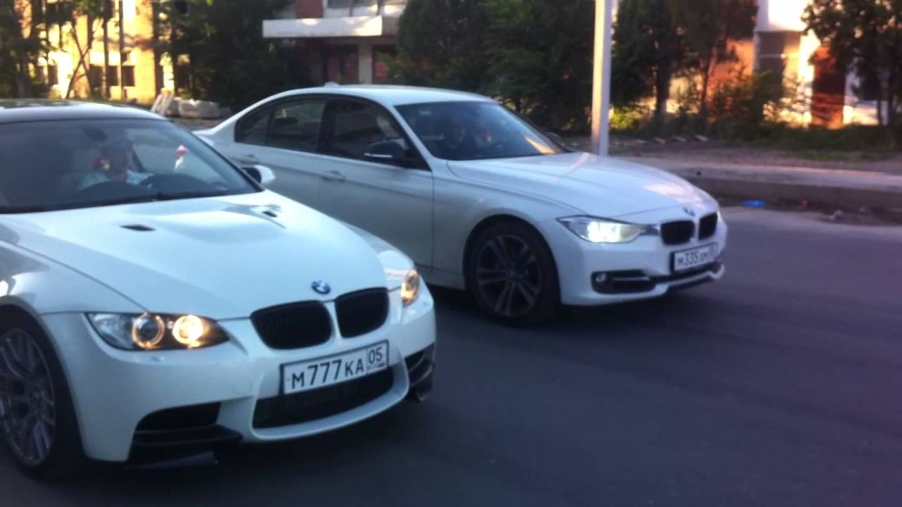 BMW 335i F30 Sport Line vs BMW 335i E92 LCI Turbo - YouTube