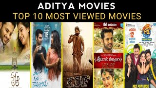 Top 10 Most Viewed Hindi Dubbed Movies Of Aditya Movies In YouTube [Aditya Movies]