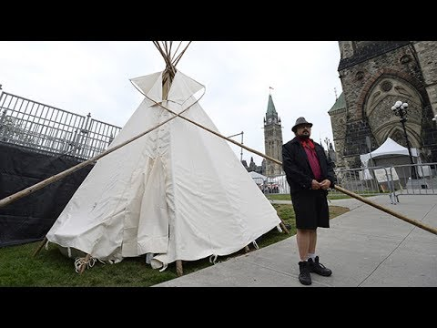 Indigenous activists set up teepee on Parliament Hill