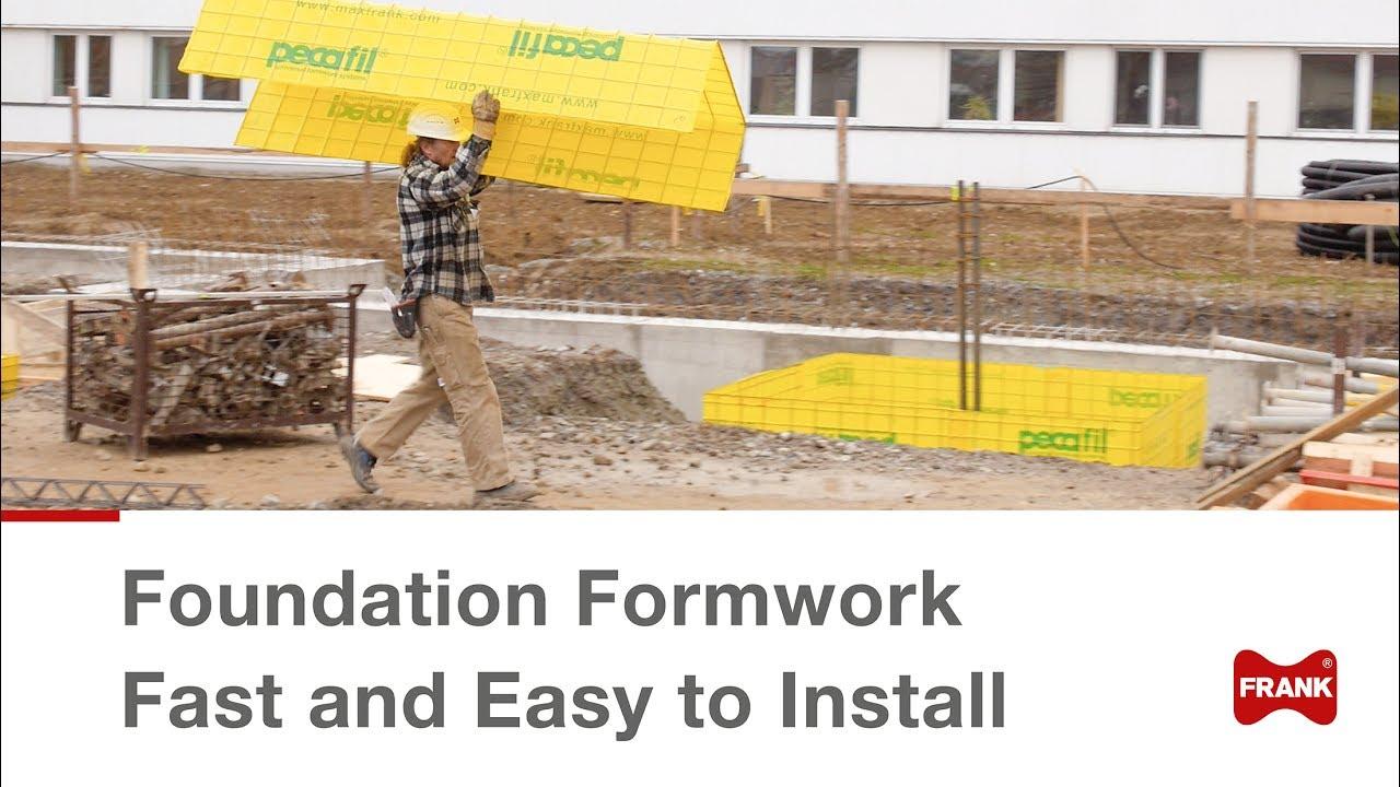 Pecafil® Formwork for Ground Beams and Pile Caps