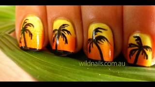 Tropical Island Summer Nails Tutorial