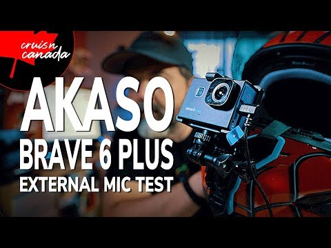 Akaso Brave 6 Plus External USB C Mic Test And Review   Ultimate Combo?