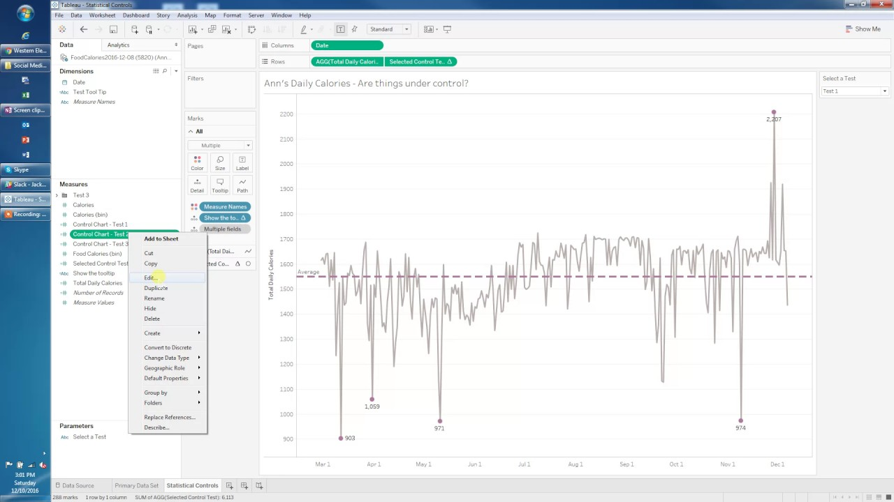 Statistical Process Controls In Tableau Youtube