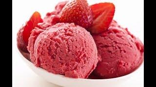 Evde çok az malzemeyle çilekli dondurma yapımı / çok kolay tarifler