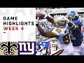 YouTube Turbo Saints vs. Giants Week 4 Highlights | NFL 2018