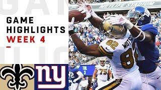 Saints vs. Giants Week 4 Highlights