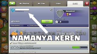 Cara buat nama unik di clash of clan #pecahkanmisterinya