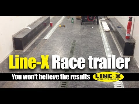 Line-X Trailer Coating In a Trailer - Still going strong after 6 years of racing