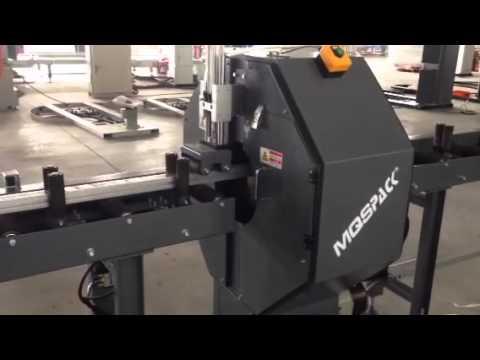 guard bar / aluminum / rail profile wrapping machine