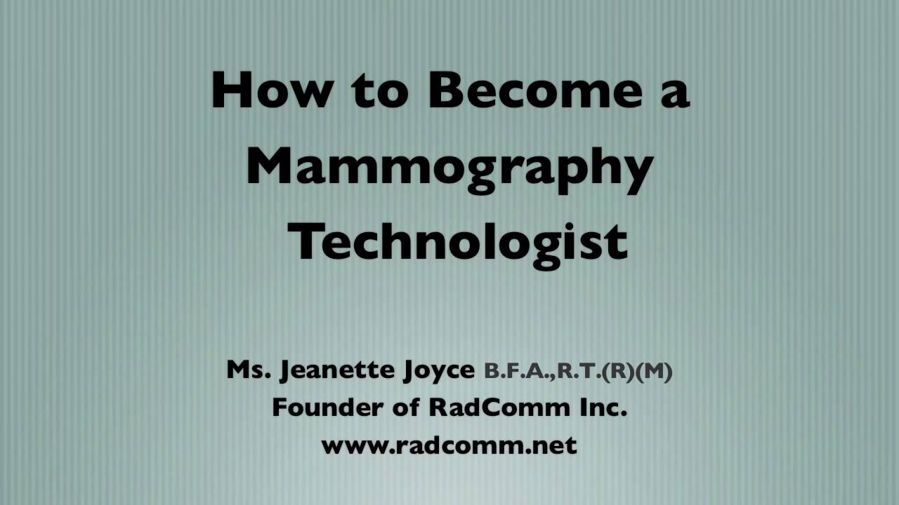 How to become a mammography technologist youtube how to become a mammography technologist xflitez Gallery