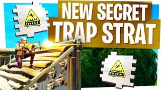 My New Secret Trap Strategy - Fortnite Easy Trap Kills