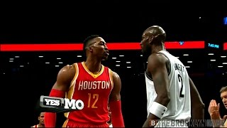 Dwight Howard, Kevin Garnett fight -- Nets/Rockets 1/12/2015