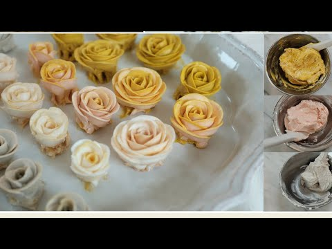 korea flower cake decoration, buttercream color mix,piping ...