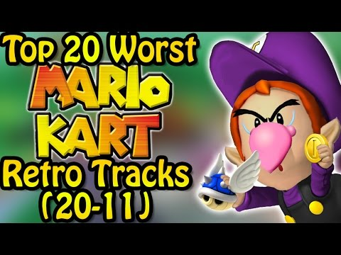 Top 20 Worst Mario Kart Retro Tracks (20-11) Ft. Nicobbq