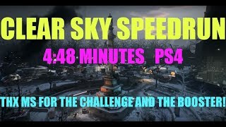 CLEAR SKY SPEEDRUN PS4/ 4:48 MINUTES! MARCO STYLES CHALLENGE ACCEPTED!