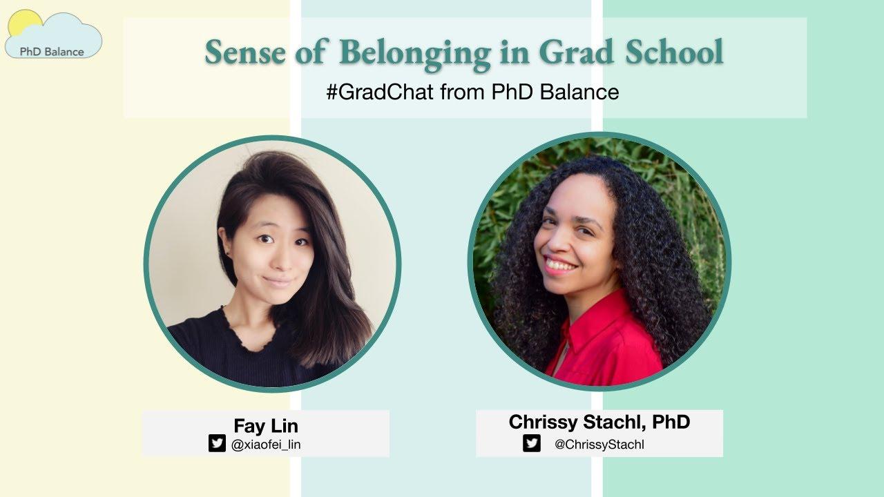 Sense of Belonging in Grad School ~ w/ Dr Chrissy Stachl