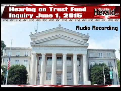 Hearing on Trust Fund Inquiry