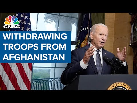 President Joe Biden on his plans for withdrawing troops from Afghanistan