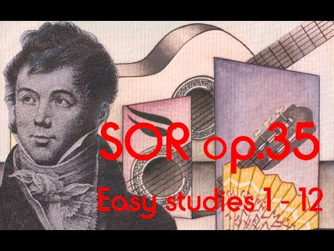 Lawall plays Sor Studies op. 35 1-12 MS Kirchheim