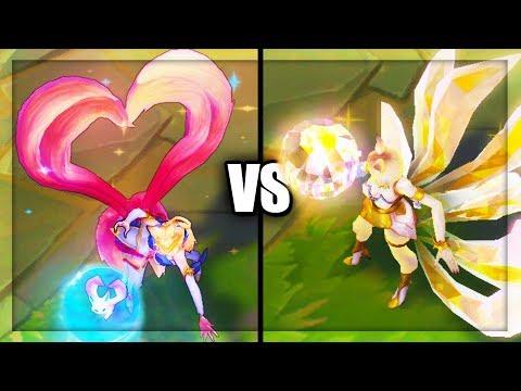 Prestige KDA Ahri vs Star Guardian Ahri Legendary vs Epic Skins Comparison (League of Legends)