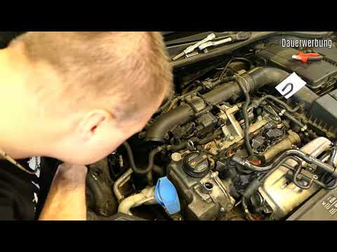 VW 1.4 TSI timing chain replace full video BLG engine -GERMAN-