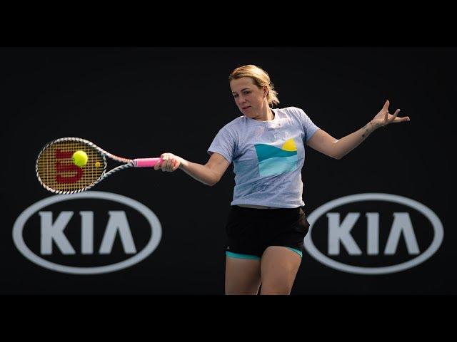 Anastasia Pavlyuchenkova Practice | 2020 Australian Open