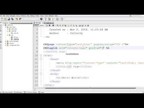 Hello World application (display users name) - Part 1