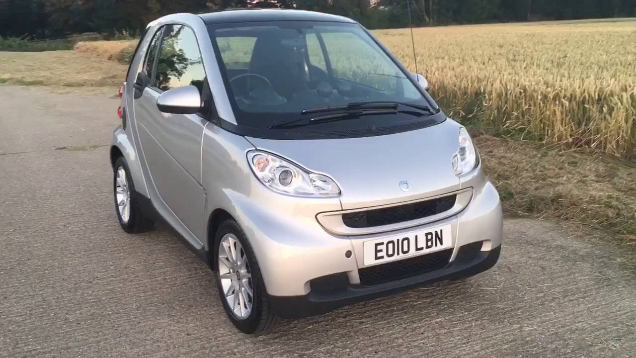 2010 Smart Fortwo Pion Car 1 0 Mhd Petrol Auto Video Review